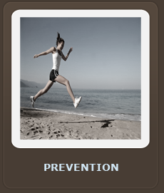 image of woman running on beach
